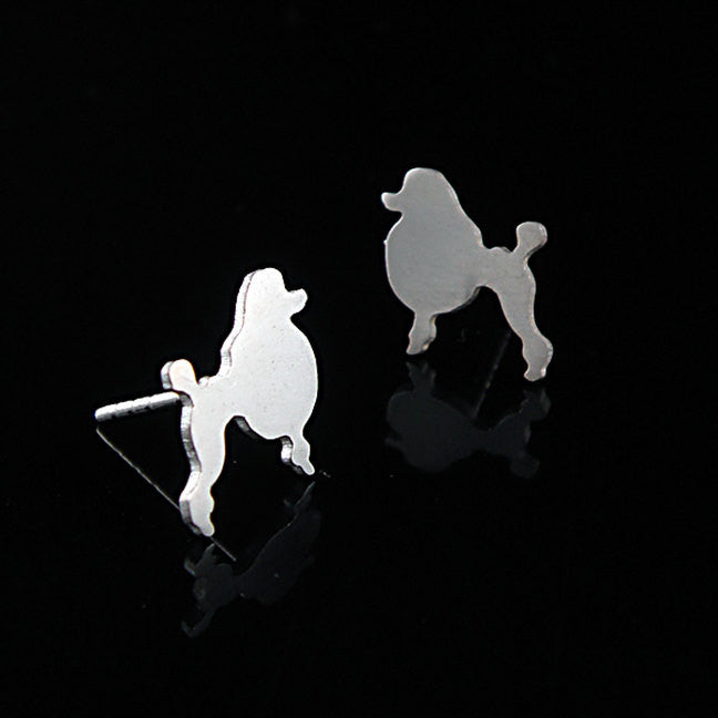 Poodle Earring Studs
