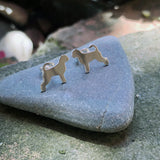Portuguese Water Dog Ear Studs