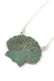 Seashell with Green Patina