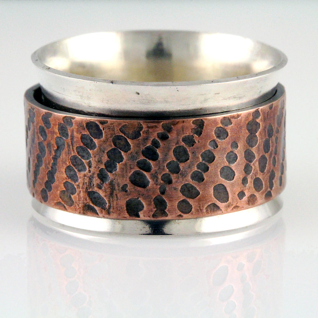 Textured Copper Spinner - Size 7