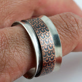 Copper Scale Spinner Ring - Size 10.5
