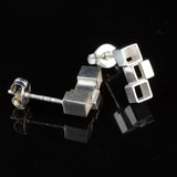 Sculptural Mini Cube Studs
