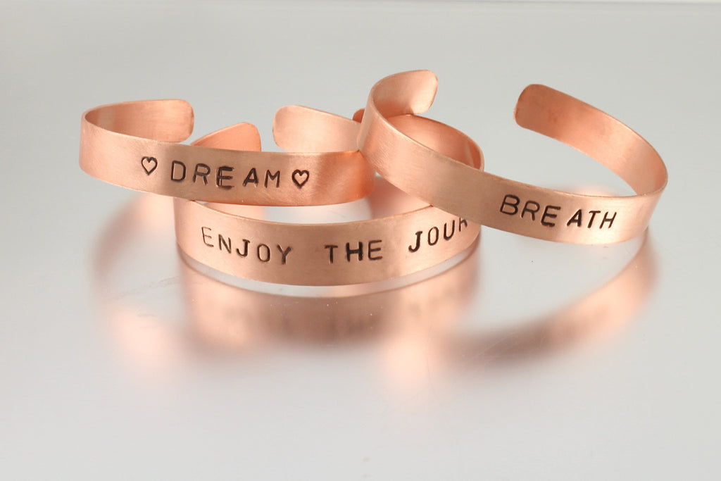 Copper Mantra Cuff