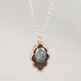 Sterling & Copper Pendant with Turquoise
