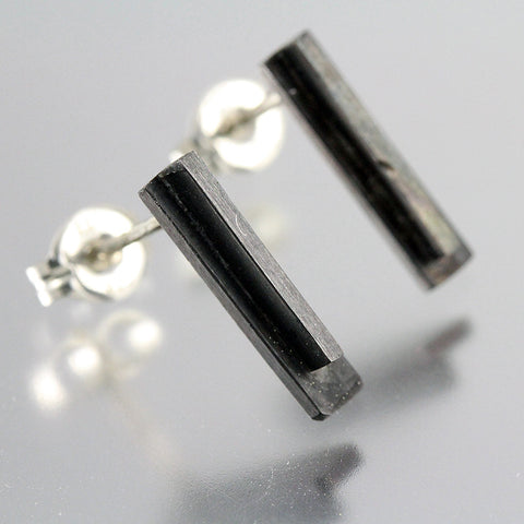 Modern Drop Two-Toned Studs