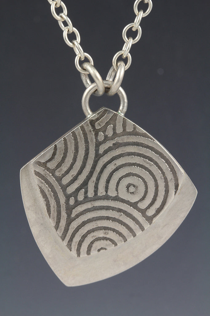 Abstract Textured Pendant