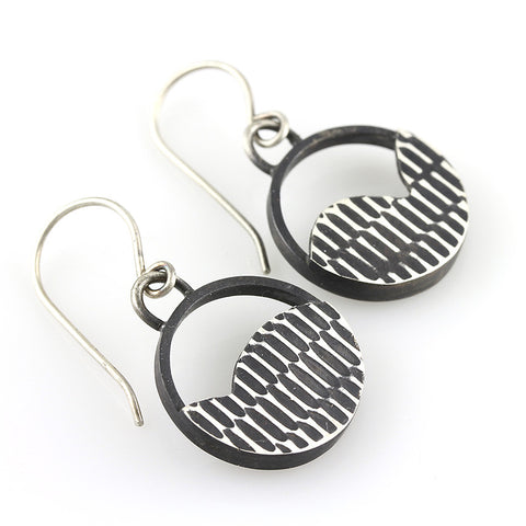 Black and White Circle Texture Dangles