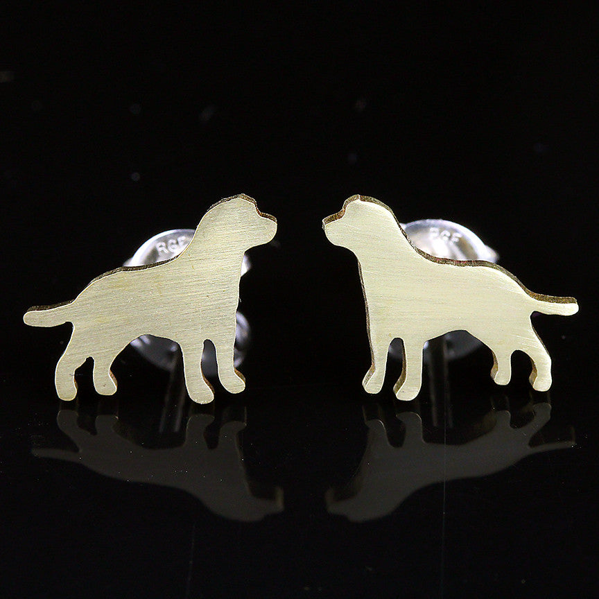 Labrador Yellow Earring Studs