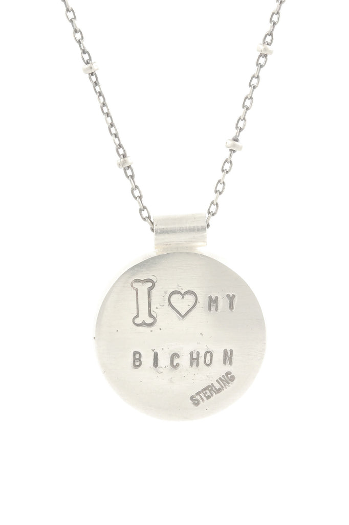 I Love My Bichon Necklace