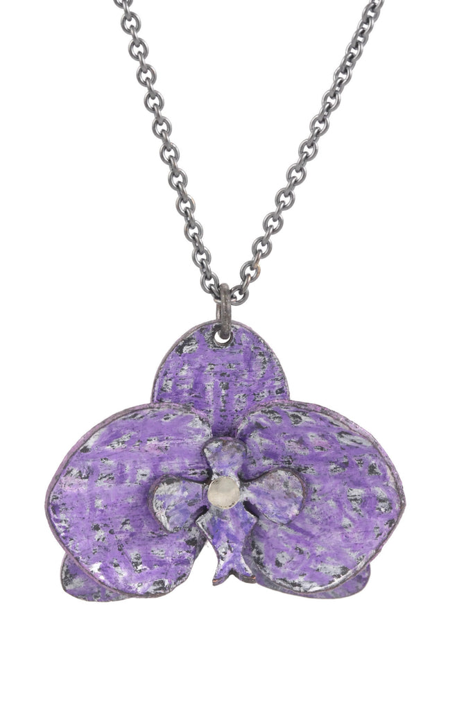 Orchid Pendant: Purple Flower