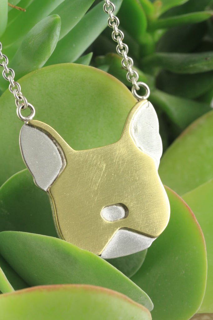 French Bulldog Double Sided Head Pendant