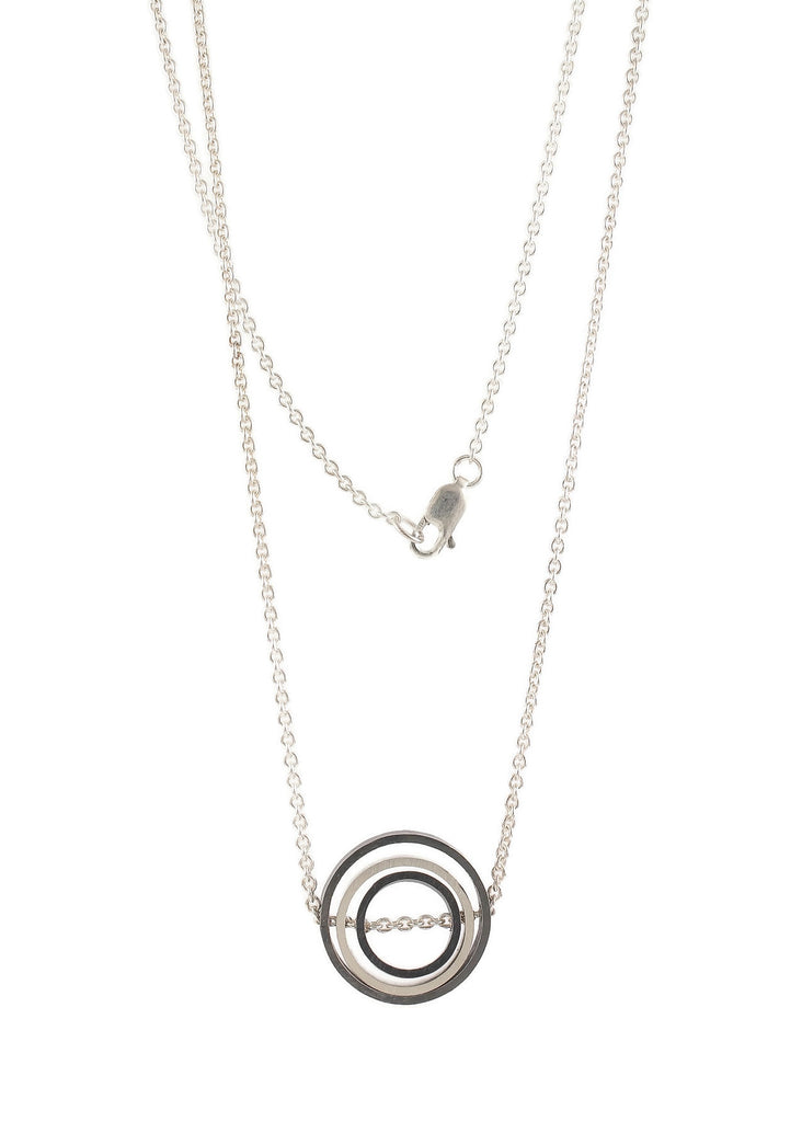 O.C.D. Small Circle Grayscale Necklace