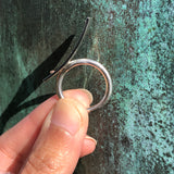 Stargazing: Sterling Ramp with 14K Gold Ring
