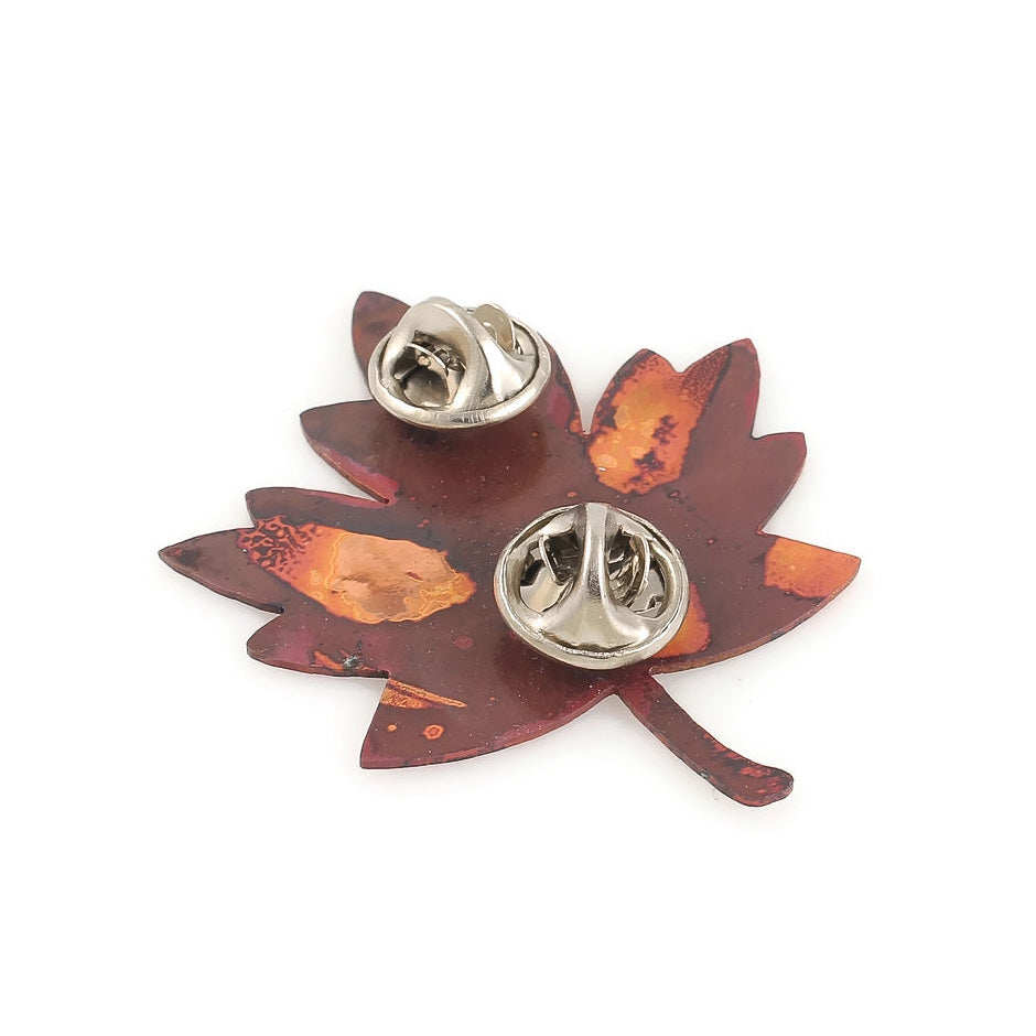 Leaf Brooch: Maple Red