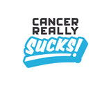Cancer Really Sucks! 3x3 Vinyl Sticker