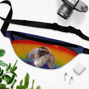 Rainbow Sloth Fanny Pack
