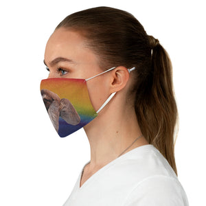 Rainbow Sloth Fabric Face Mask women side