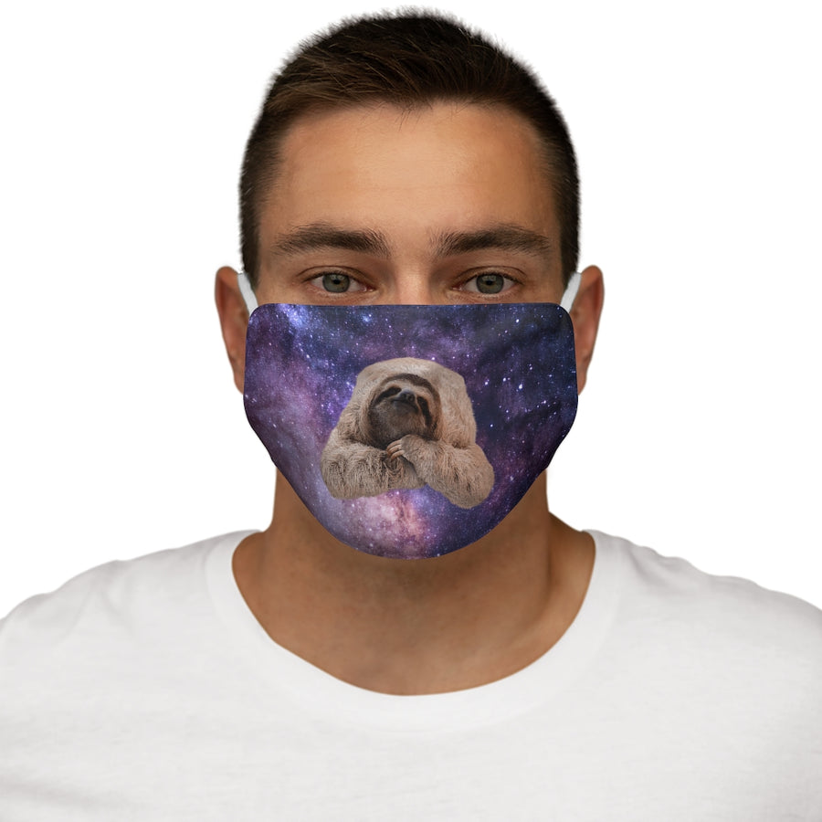Galaxy Space Sloth Face Mask on Man