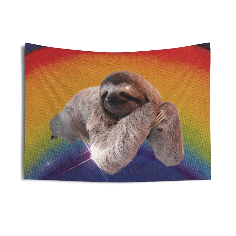 Rainbow Sloth Wall Tapestry