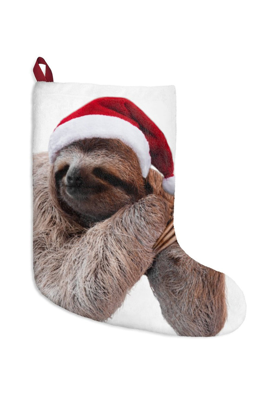 Santa Sloth Christmas Stocking