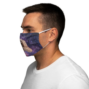 Galaxy Space Sloth Face Mask on Man Side View