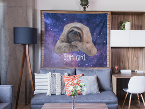 Space Sloth Indoor Wall Tapestry