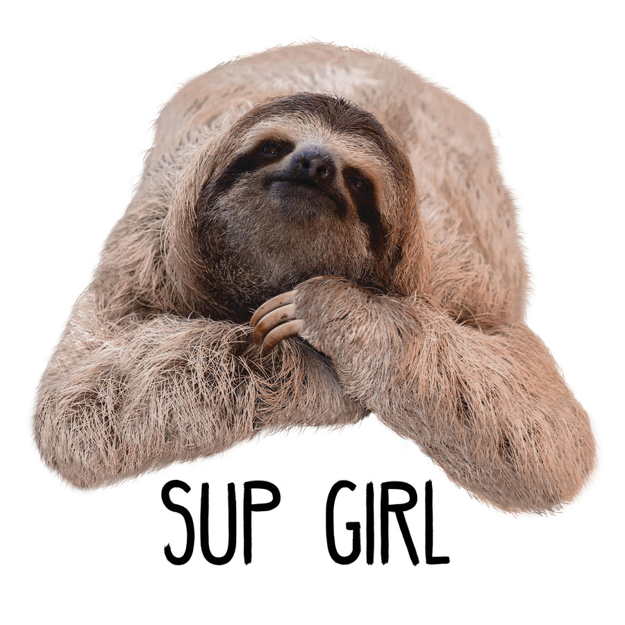 """Sup Girl"" Sloth Mug Art"