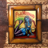 Fiji Mermaid FRAMED CANVAS Art Print