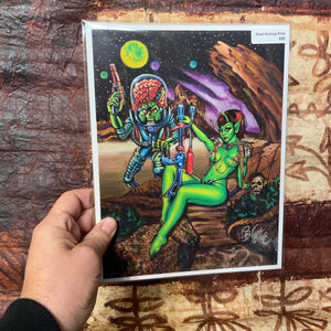 Mars Attracts Archival PAPER Art Print - Select Size