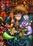 Trader Oogies Tiki Room Archvial CANVAS Art Print - Select Size