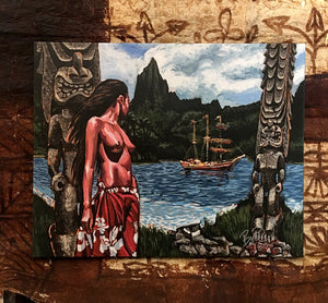 Forbidden Island Archival CANVAS Art Print - Select Size