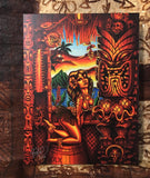 Howie's Tiki Lani Archvial CANVAS Art Print - Select Size