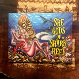She Gods of Sharks Reef Archival CANVAS Art Print - Select Size