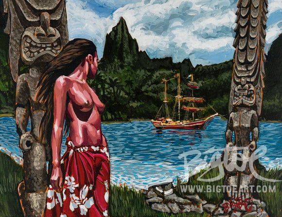 Forbidden Island Archival PAPER Art Print - Select Size