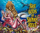 SheGods of Shark Reef Archival PAPER Art Print - Select Size