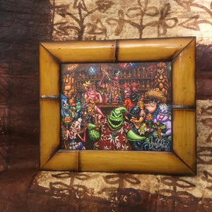Trader Oogies Tiki Room FRAMED CANVAS Art Print