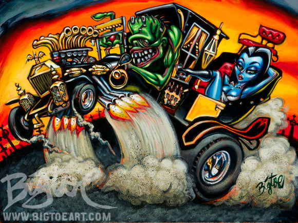 Hot Rod Herman Archival PAPER Art Print - Select Size