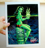 Green Goddess Archival PAPER Art Print - Select Size