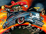 Custom Calavera Archival CANVAS Art Print - Select Size