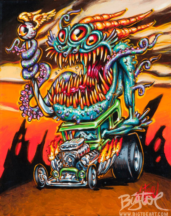 Deep One Hot Rod Archival PAPER Art Print - Select Size
