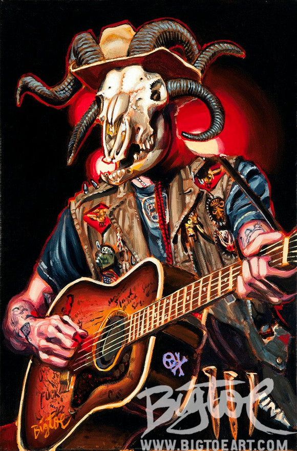 Hellbilly Archival PAPER Art Print - Select Size