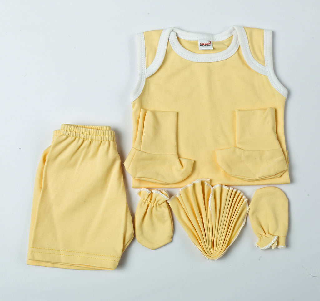 Castiel Gift Set For New Born Babies Yellow