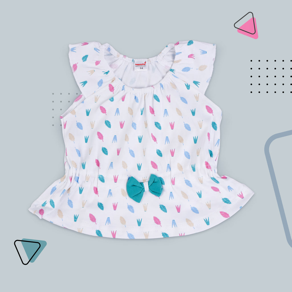Sleeveless Top With Shorts For Baby Girls