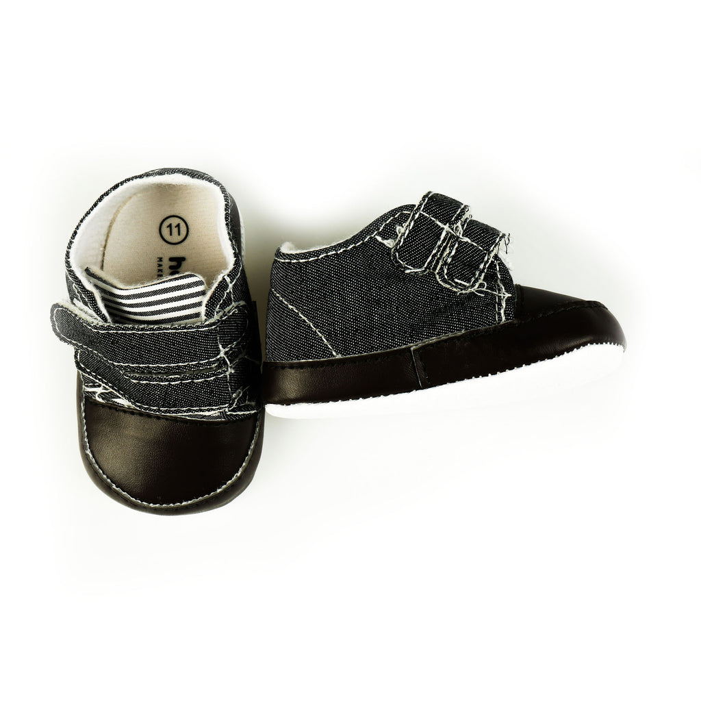 Black Soft and Stylish Booties for Babies