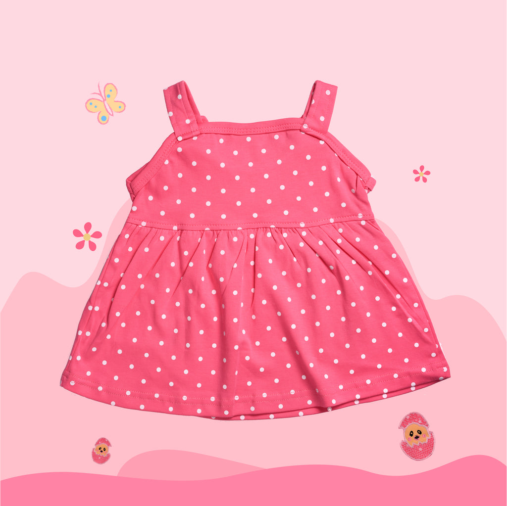 Sleevless Frock Top For Baby Girls