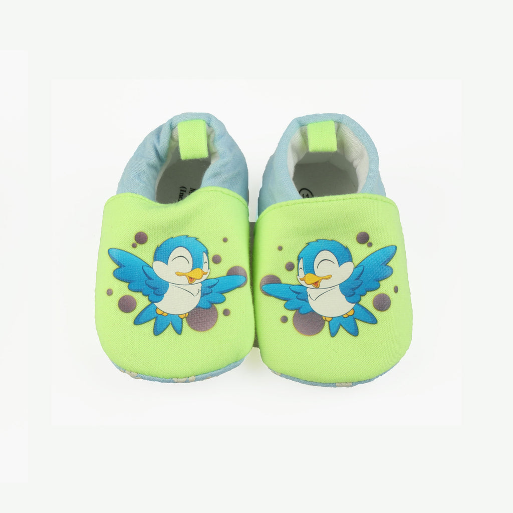Green Soft and Stylish Booties for Babies