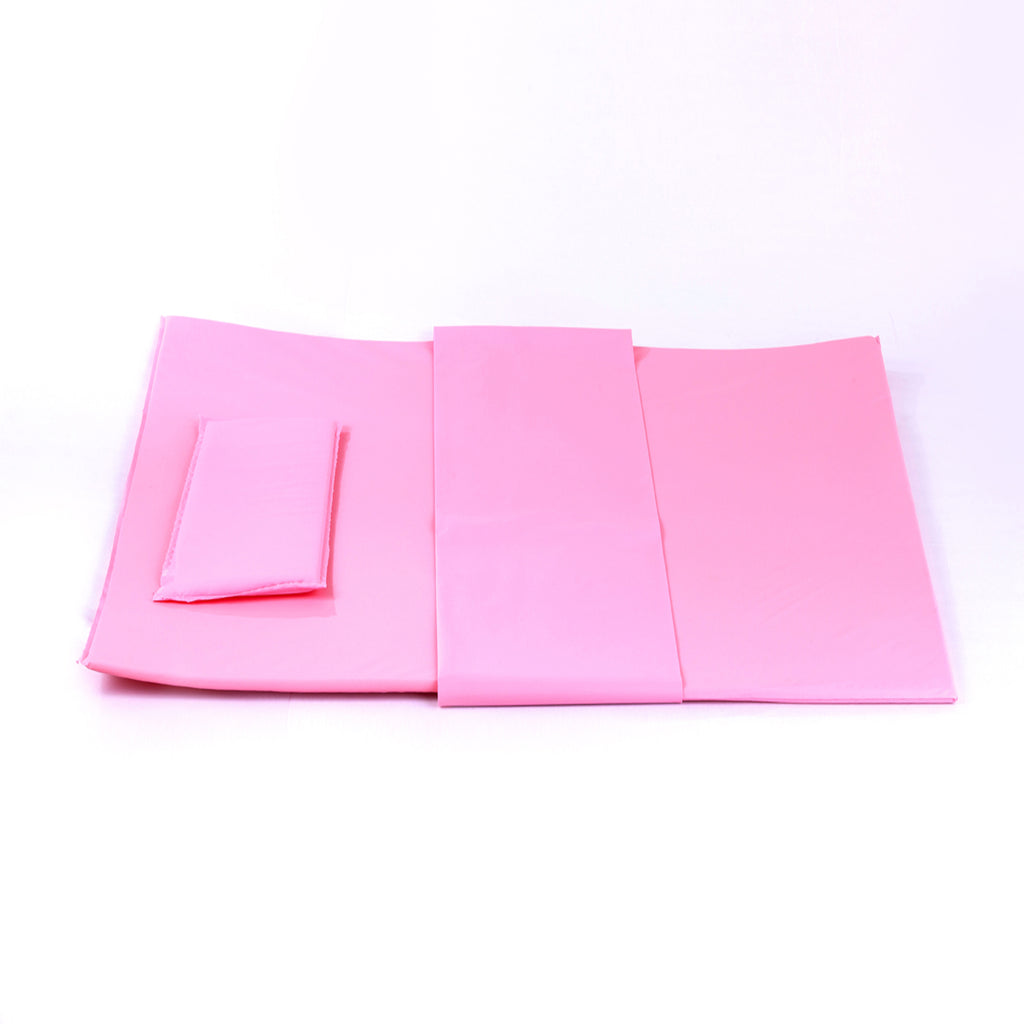Pink Baby Bath Bed with Pillow and Baby Mat