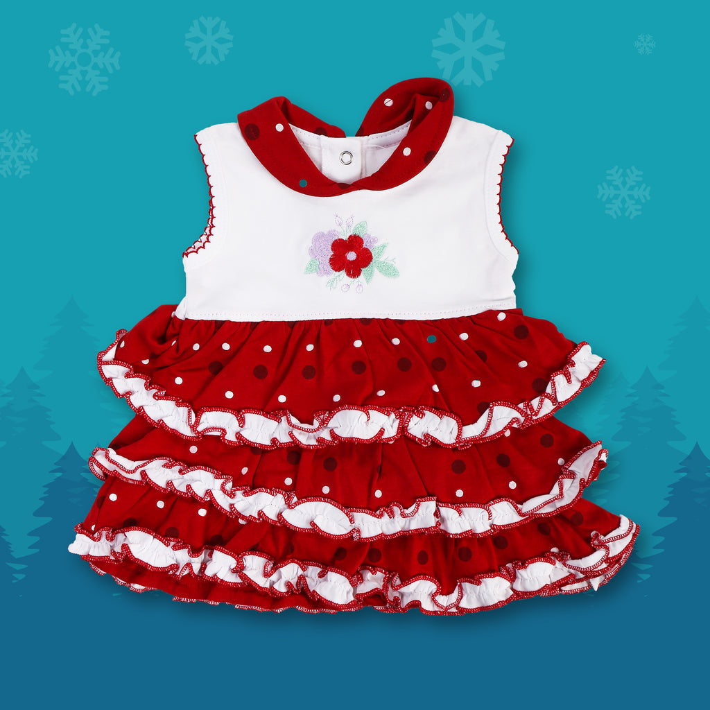 Flared Sleeveless Frock For Baby Girls