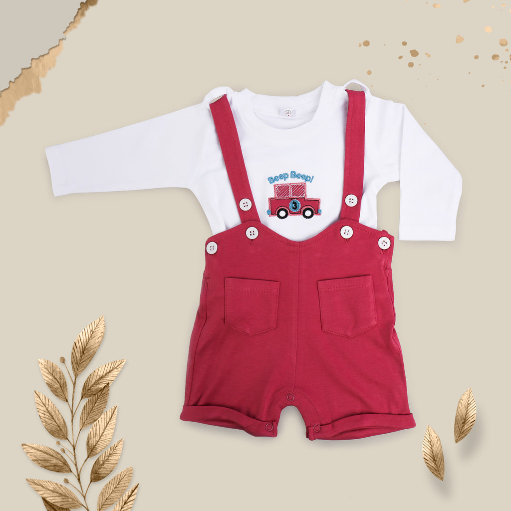 Full Sleeves Dungaree Set For Baby Boys