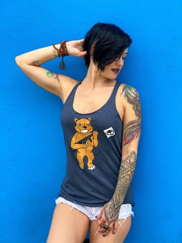 Vikerrious modeling the Bear Arms design by skinnybuddha artist @ash_lethal